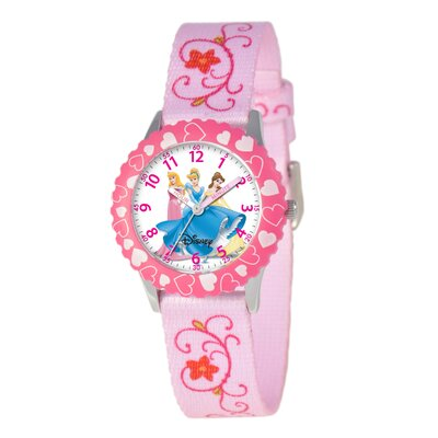Disney Kid's Princess Time Teacher Watch in Pink with Pink Bezel