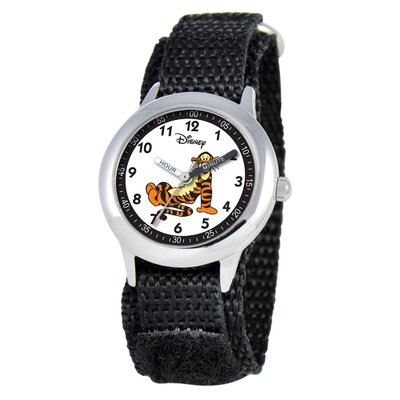 Disney Kid's Tigger Time Teacher Velcro Watch in Black