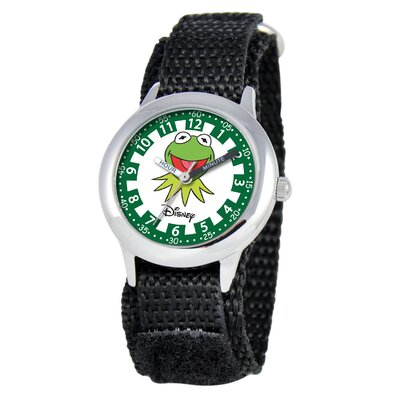 Kid's Muppets Time Teacher Velcro Watch in Black