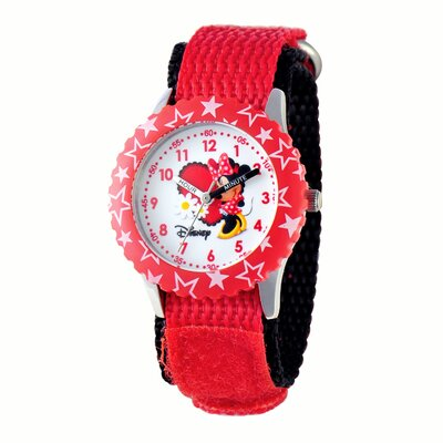Girl's Minnie Mouse Time Teacher Watch