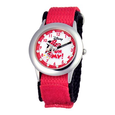 Girl's Glitz Minnie Mouse Time Teacher Watch