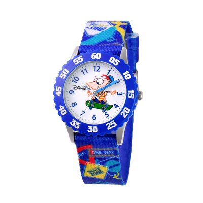 Disney Boy's Phineas Time Teacher Watch