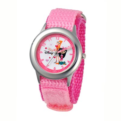Disney Girl's Candace and Isabella Time Teacher Watch