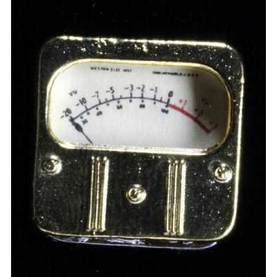 Harmony Jewelry Weston VU Meter Pin in Gold