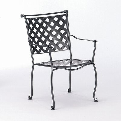 Woodard Maddox Stacking Dining Arm Chair
