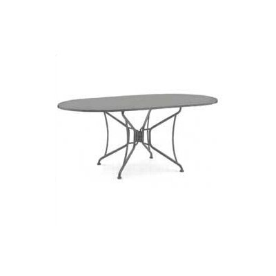 Woodard Briarwood Oval Umbrella Dining Table