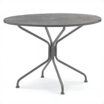 Premium Mesh Top Round Umbrella Dining Table
