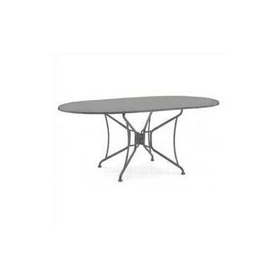 Woodard Premium Mesh Top Oval Umbrella Dining Table