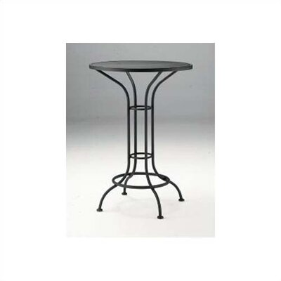 Woodard Bar Height Outdoor Round Mesh Top Bistro Table Reviews Wayfair