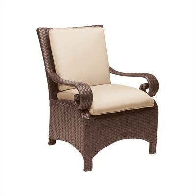 Woodard Carlton Wicker Dining Arm Chair with Cushion