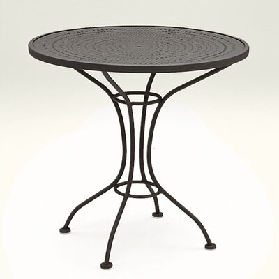 "Woodard Parisienne 30"" Round Bistro Table with Pattern Metal Top"