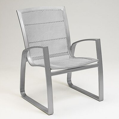 Woodard Wyatt Mesh Dining Arm Chair