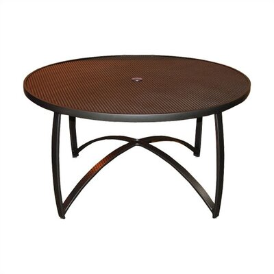 "Woodard Wyatt Mesh Top 54"" Round Umbrella Dining Table"