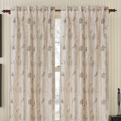 Gracious Living Cutesy Silk Rod Pocket Drape Single Panel