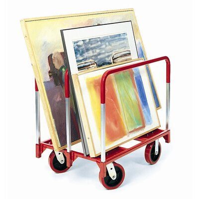 Raymond Products Panel Mover 8&quot; Quiet Poly Casters, 2 Fixed and 2 Swivel, 3 Standard Uprights