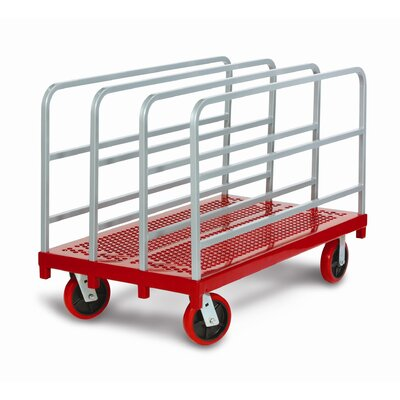 Raymond Products Heavy Duty Panel / Sheet Mover Quiet Poly Casters, 2 Fixed and 2 Swivel, 4 Uprights