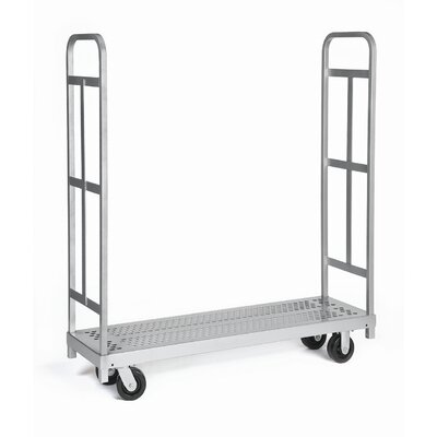 Raymond Products Narrow Tall End Truck, Phenolic Casters, 2 Fixed and 2 Swivel, 2 Uprights