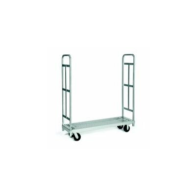 Raymond Products Narrow Tall End Truck, Phenolic Casters, All Swivel, 2 Uprights
