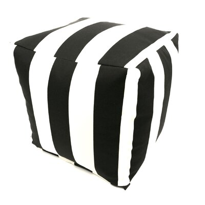 Majestic Home Products Striped Cube Ottoman