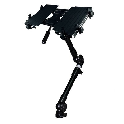Cotytech Car Holder for iPad 3-Way Tripod Head Dual Arm Adjustable in BlackTray