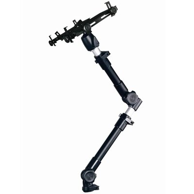 Cotytech Car Holder for iPad Ball Joint Head Dual Arm Adjustable in  Black Tray