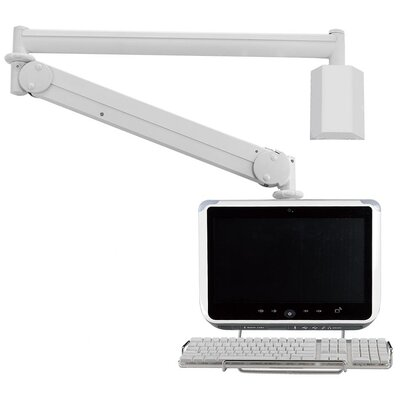 Cotytech Long Reach LCD Monitor Arm with Front Keyboard Holder