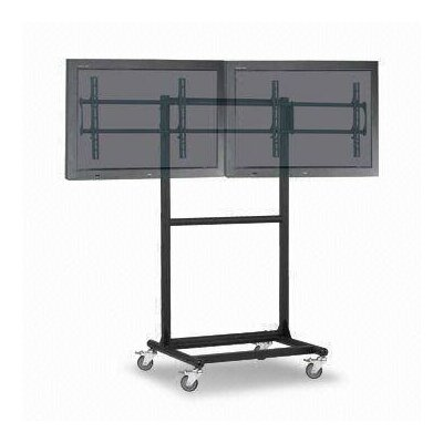 "Cotytech Adjustable Ergonomic Mobile Dual TV Cart for 32"" - 46"""