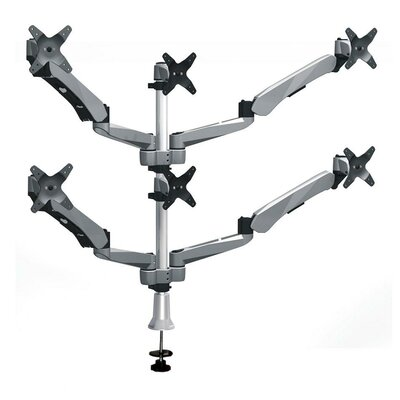 Cotytech Six Monitor Desk Mount Spring Arm (4) Quick Release