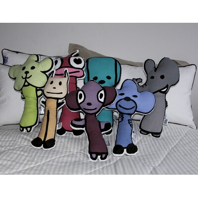 Meo and Friends Figure Pillow Set of 7 (1 of Each Character)