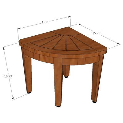 Aqua Teak Spa Teak Corner Shower Stool
