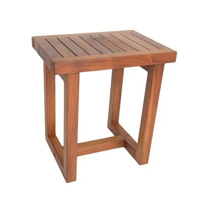 Spa Teak Shower Stool