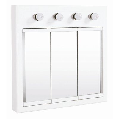 "Design House Concord 30"" x 30"" 4 Light Medicine Cabinet"