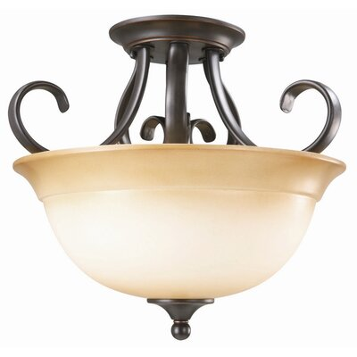 Design House Cameron 2 Light Semi Flush Mount