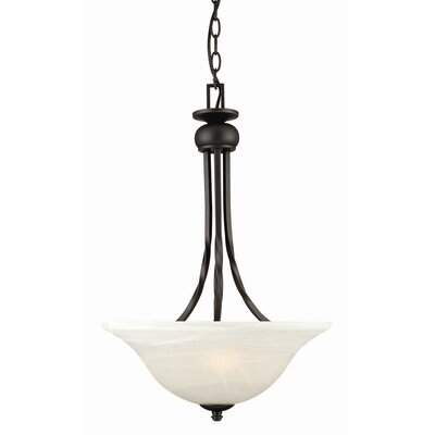 Design House Drake 2 Light Inverted Pendant