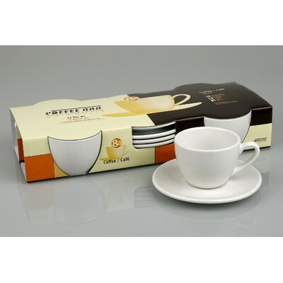 Konitz Coffee Bar 7 oz. Cup and Saucer (Set of 4)