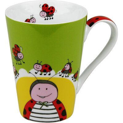 Konitz Animals Globetrotter Ladybug Mug (Set of 4)