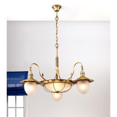 Lustrarte Lighting Nautic Leme 120V Two Light Chandelier