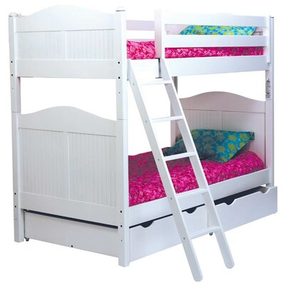 Bolton Furniture Cottage Twin over Twin Bunk Bed with Storage