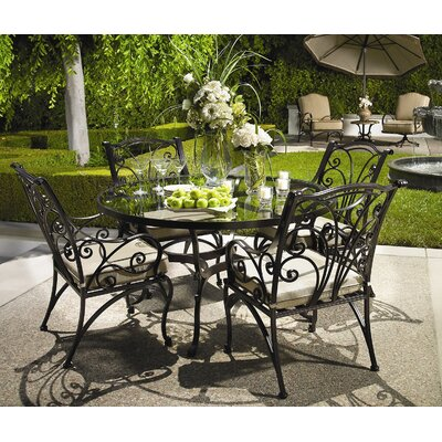 OW Lee Round Glass Dining Set