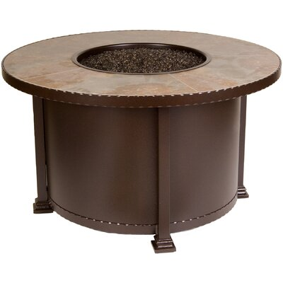 OW Lee Casual Fireside Santorini Fire Pit with Mocha Tile
