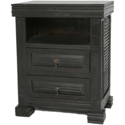 MOTI Furniture Wesley 2 Drawer Nightstand