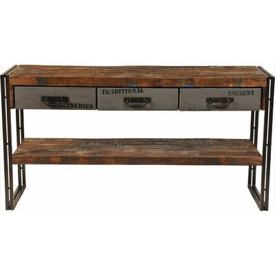 Addison 3 Drawer Console Table Wayfair
