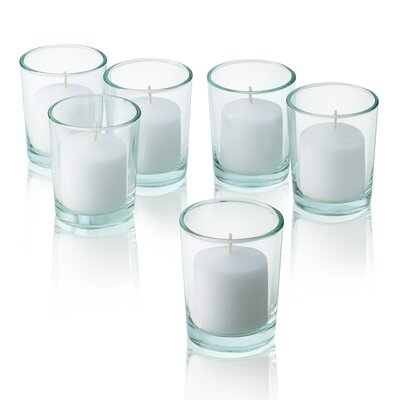 Light In the Dark White Unscented Votive Candles (Set of 72)