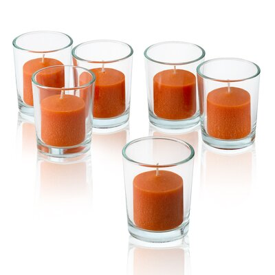 Light In the Dark Orange Mandarin Scented Votive Candles (Set of 12)