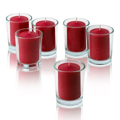 Light In the Dark Red Strawberry Scented Votive Candles (Set of 36)