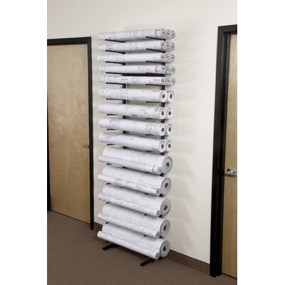 "Brookside Design Vis-I-Rack with (5) 8"" Bins, (4) 6"" Bins and (4) 4"" Bins"