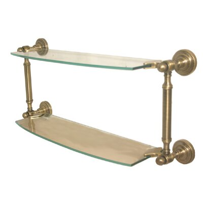 Allied Brass Dottingham Double Glass Shelf