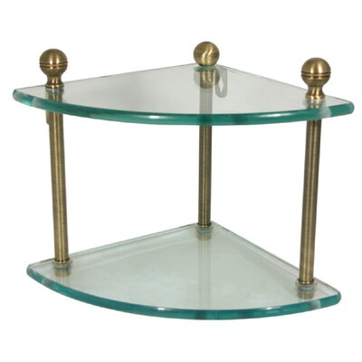 "Allied Brass Universal Two Tier 8"" Bathroom Shelf"