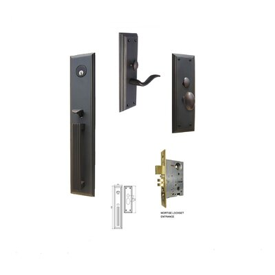 "Double Hill USA Majestic 2.5"" Keyed Entry Mortise Handle Set"