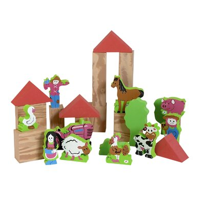 edushape My Soft World Farm Block Set